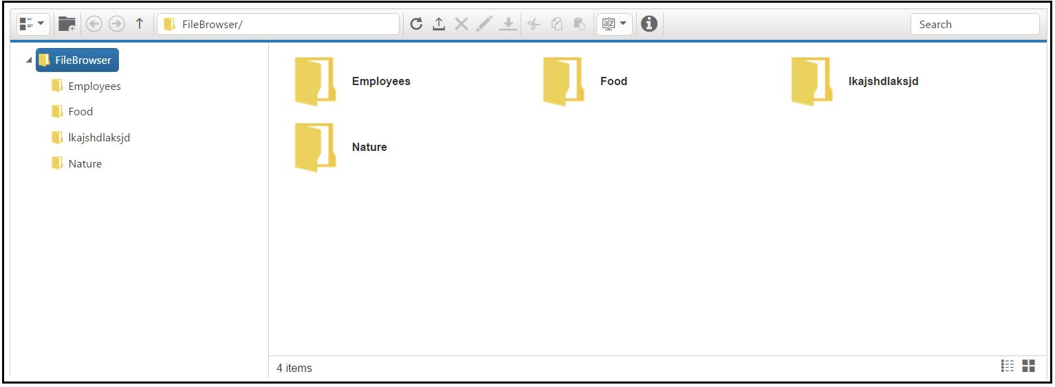 Getting Started for Angular FileExplorer