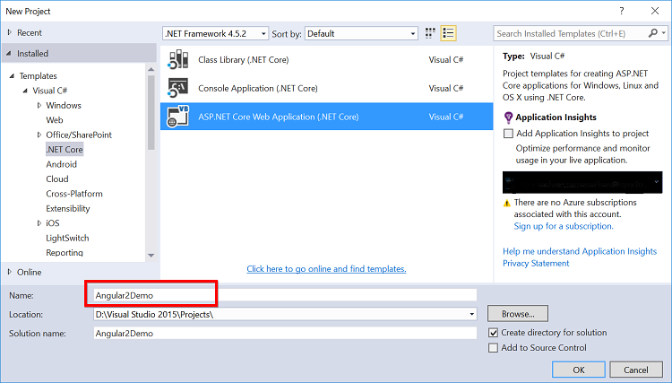 Getting Started with Angular on ASP NET Core using Visual Studio 2015
