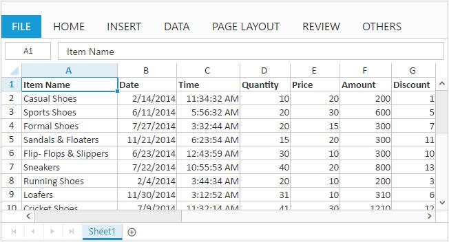 Getting Started for Angular 1 0 Spreadsheet