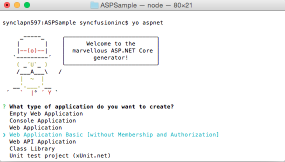 Getting Started on Mac  ASP NET Core   Syncfusion