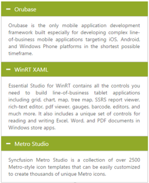 View multiple contents   Accordion   ASP NET Webforms