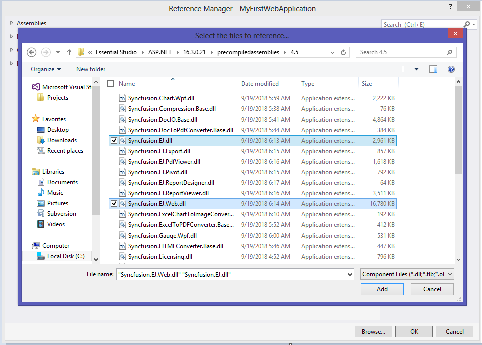 Getting started for Syncfusion Essential ASP NET