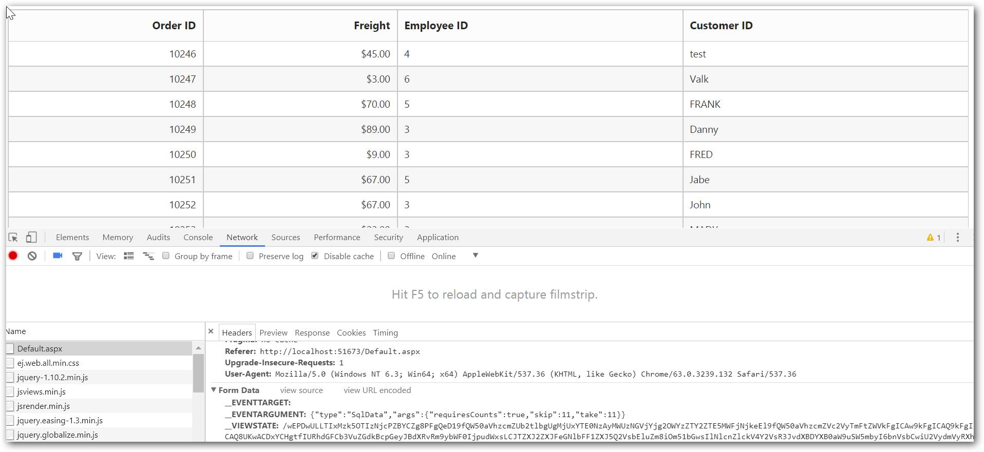 Data Binding | Grid | ASP NET Webforms | Syncfusion