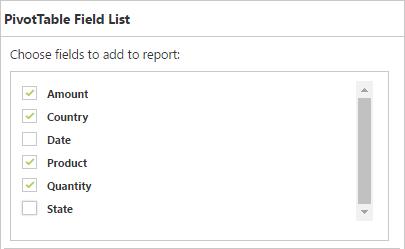 Pivottable Field List Pivotgrid Asp Net Web Forms
