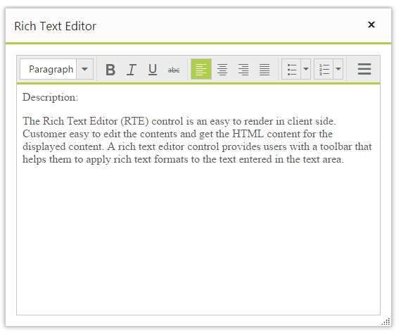 XHTML Validation in RichTextEditor control for Syncfusion