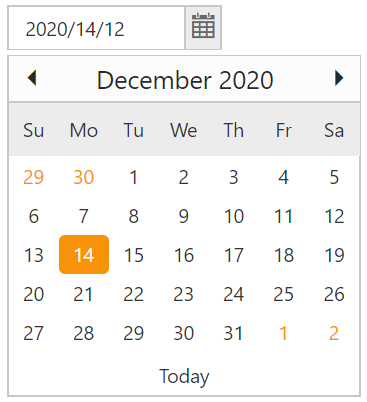 Syncfusion Essential JS DatePicker Display Format