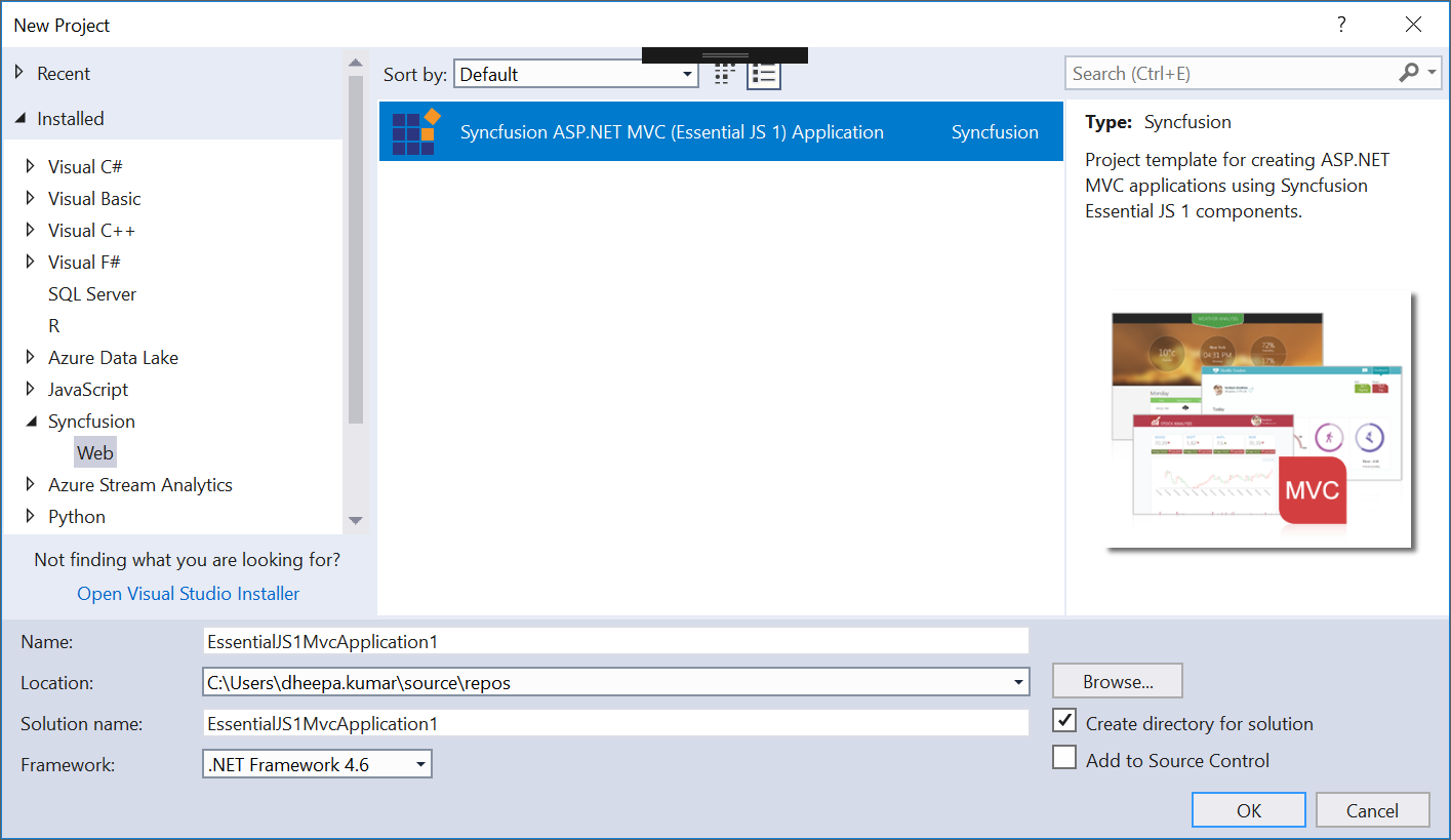 Getting Started | ASP NET MVC | Syncfusion