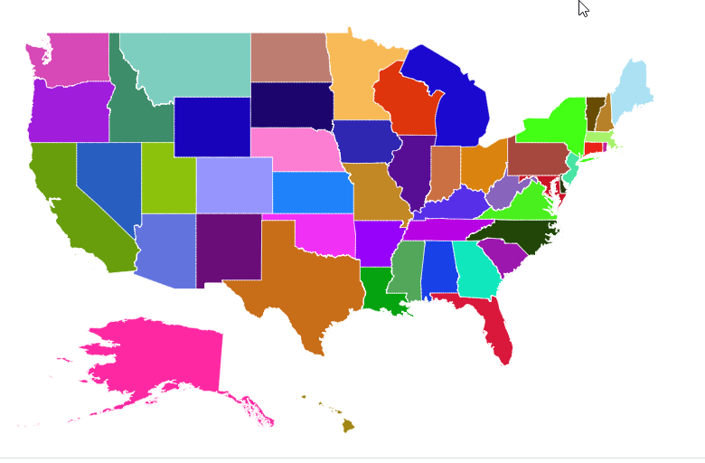 Shape Customization Of Syncfusion Maps Control For AspNet MVC - Html color map