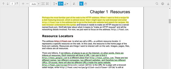 Text markup annotation | PDF viewer | ASP  NET MVC | Syncfusion