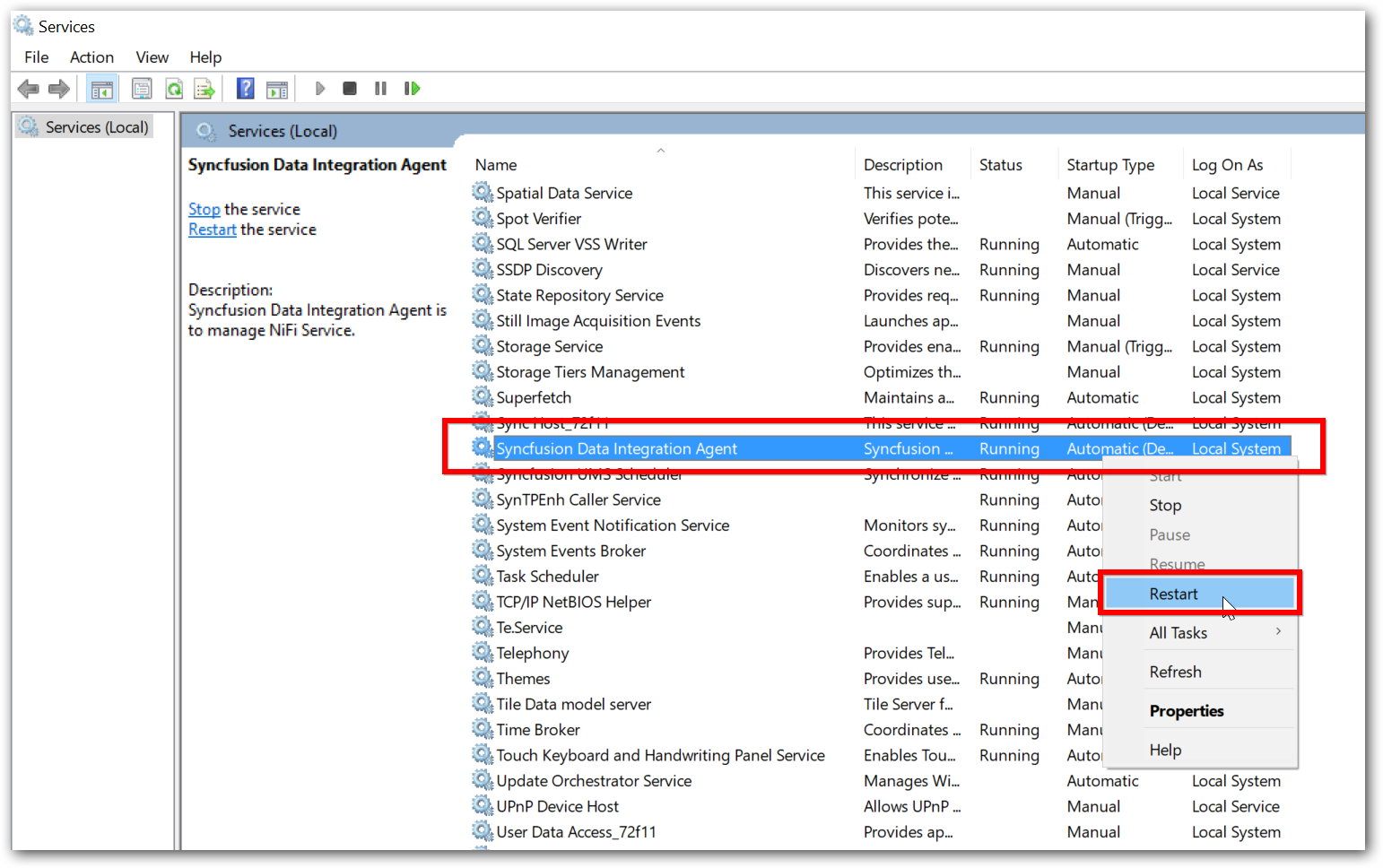 Run Data Integration Server in Production Server   Syncfusion