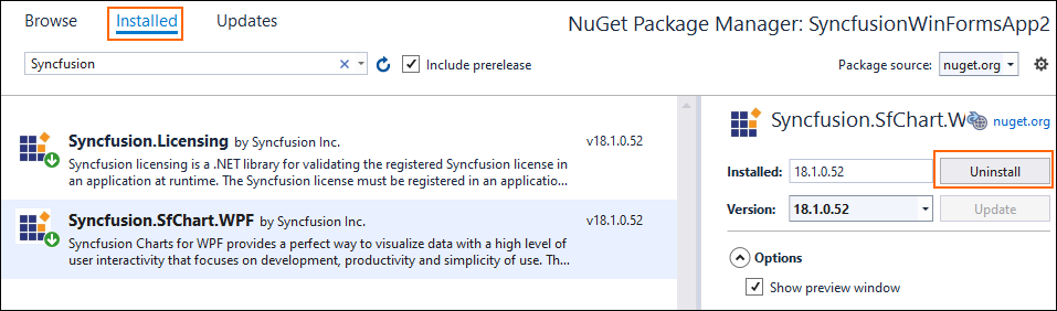 install nuget package via cli