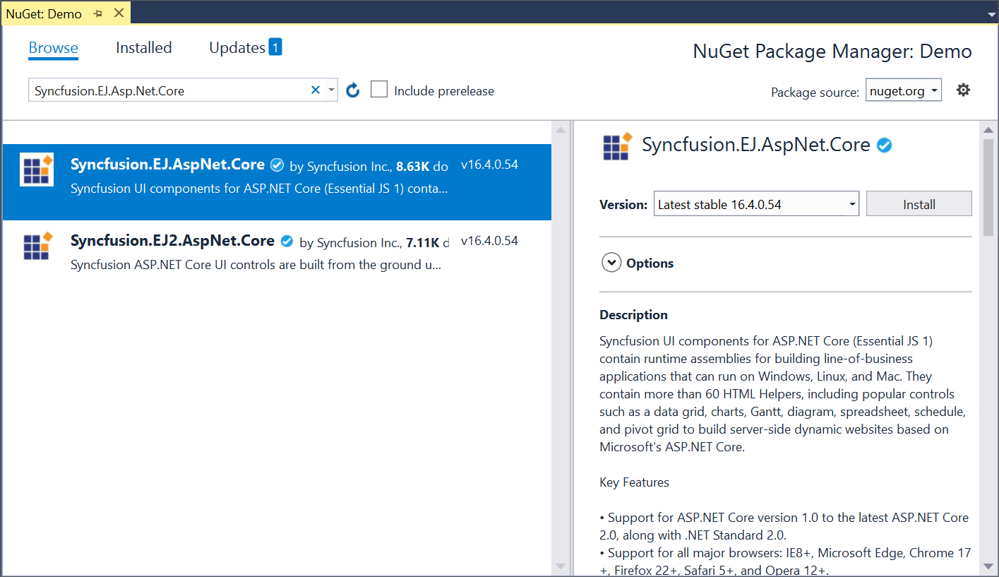 visual studio 2017 cannot install nuget package