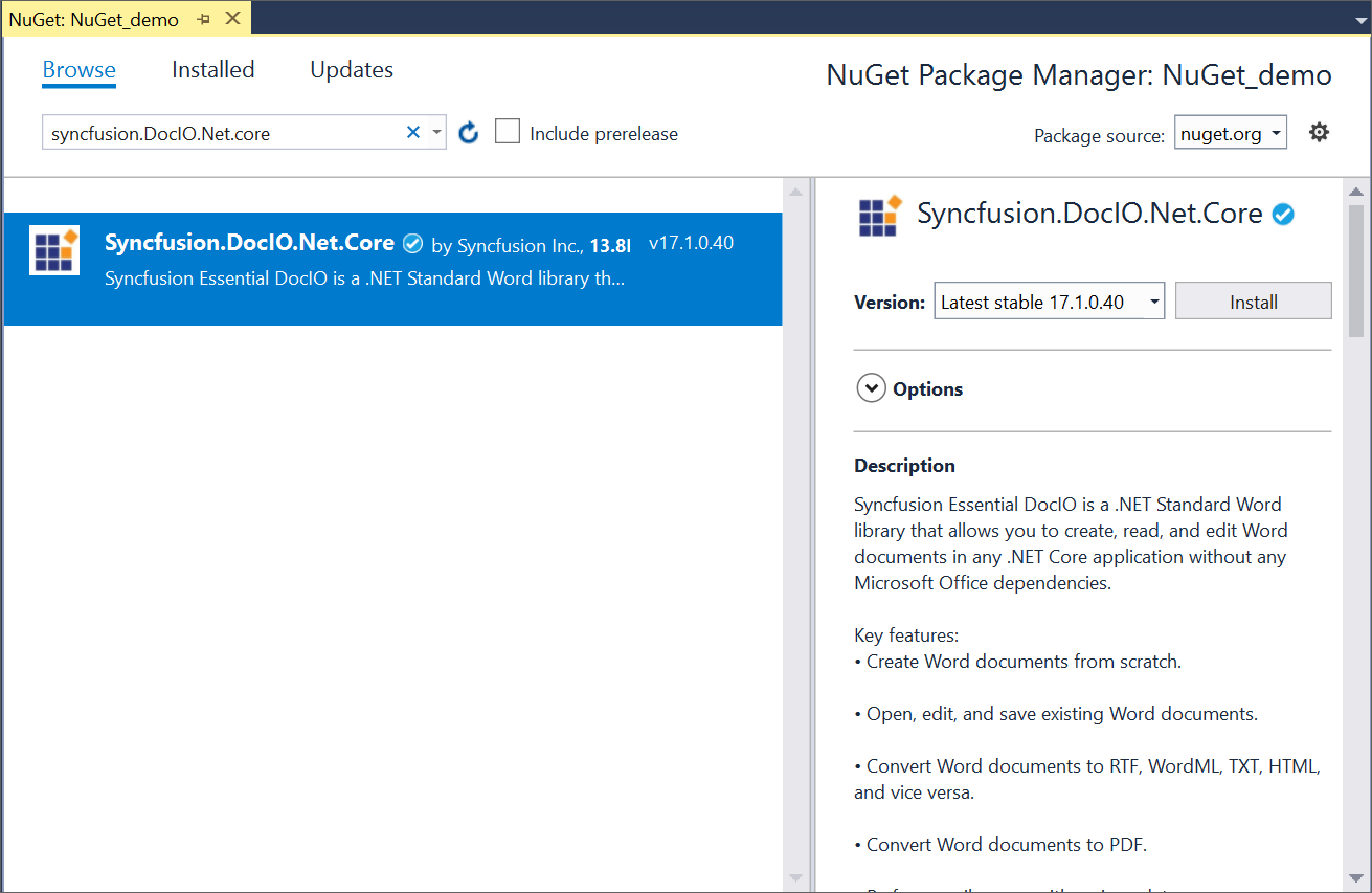 File Formats NuGet Packages | Syncfusion