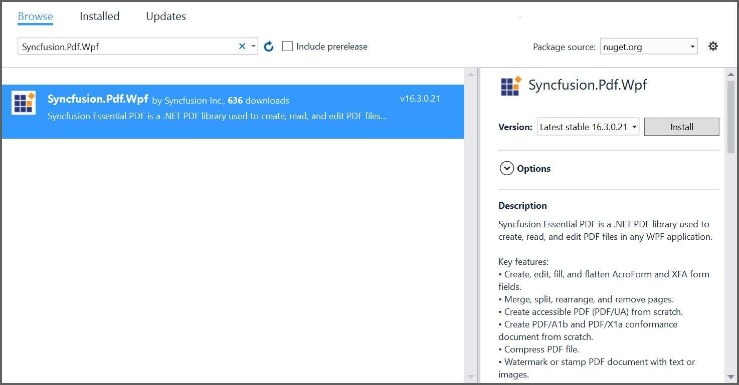 Syncfusion PDF control for WPF | Syncfusion
