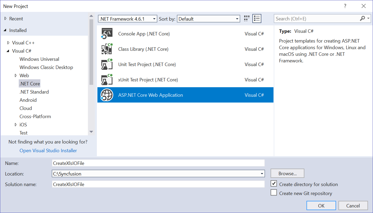 Create, read, and edit Excel files in ASP NET Core | Syncfusion