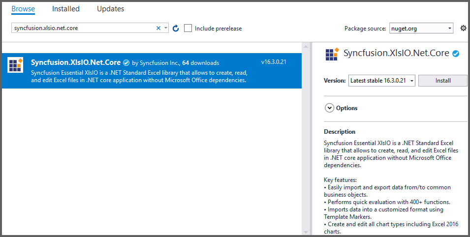 Create, read, and edit Excel files in ASP NET Core   Syncfusion