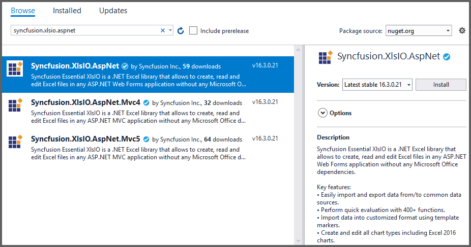 Create, read, and edit Excel files in ASP NET | Syncfusion