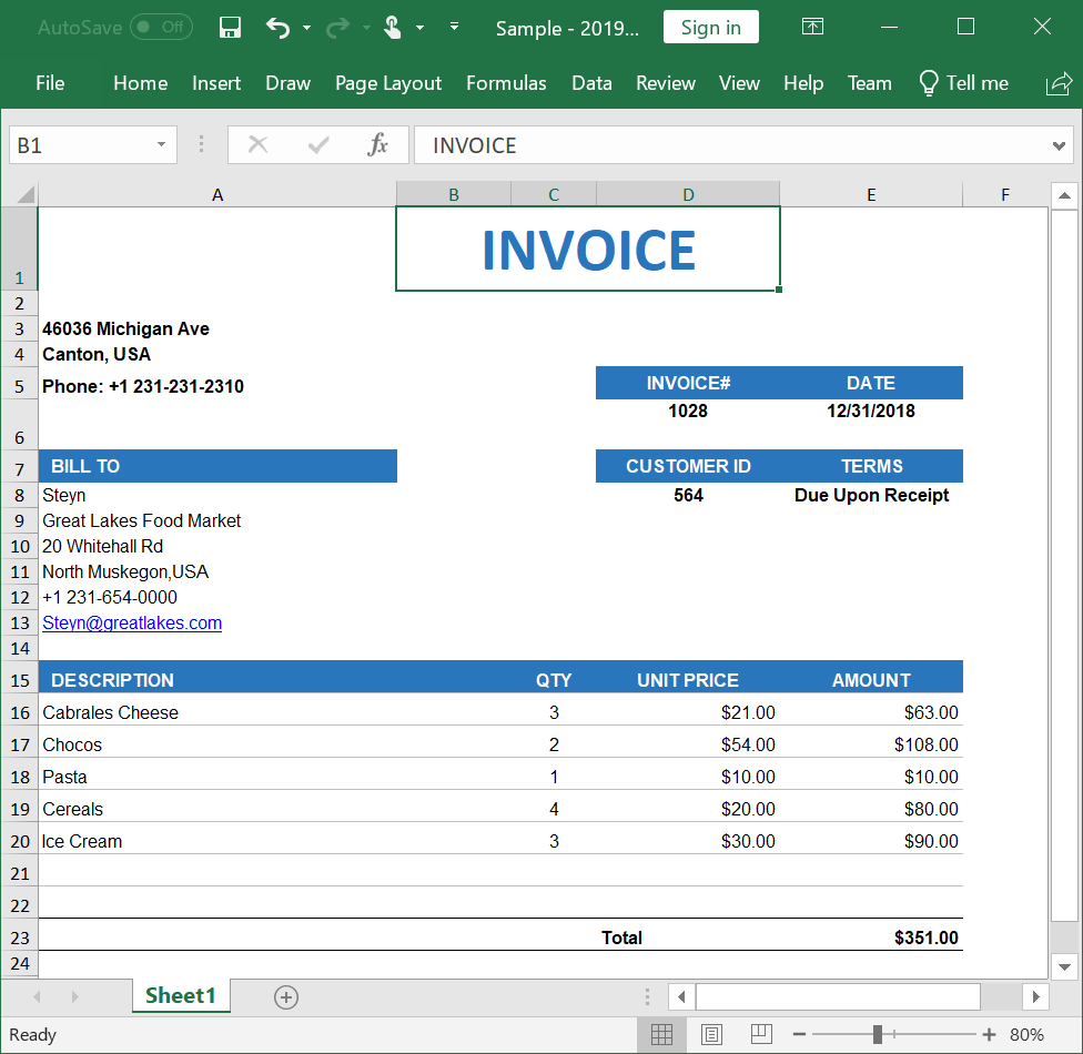 Create, read, and edit Excel files in Blazor | Syncfusion