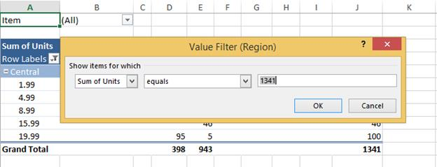 Working with Pivot Tables