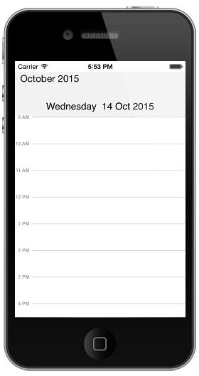 Getting started with Syncfusion Essential Schedule for iOS