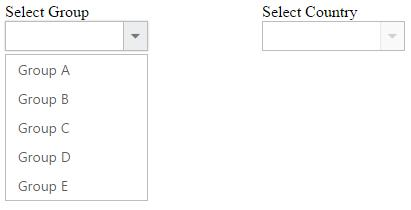 Functionalities in the DropDownList widget for Syncfusion Essential JS