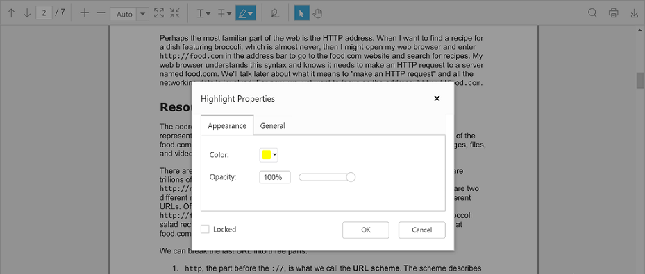 Text markup annotation of Syncfusion Essential JS PDF viewer