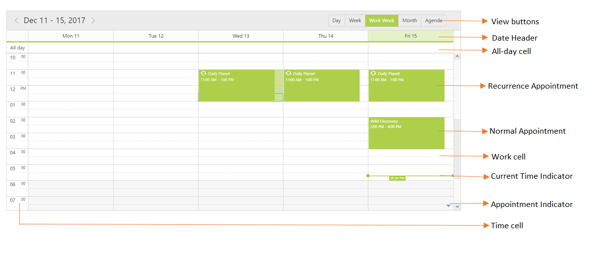 Getting started with Schedule component