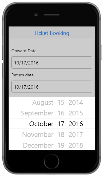 Getting Started | DatePicker | Mobilejs | Syncfusion