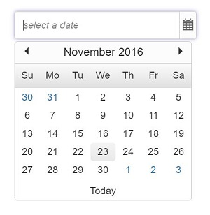PHP datepicker control