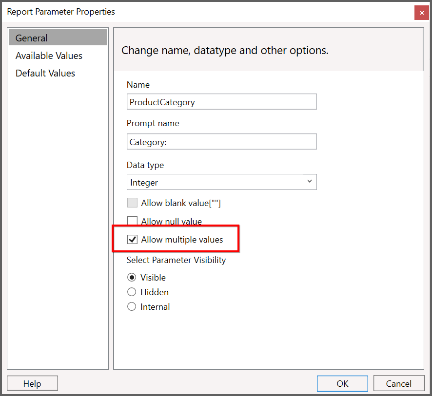 Open Reports with Report Parameter in the Syncfusion Report