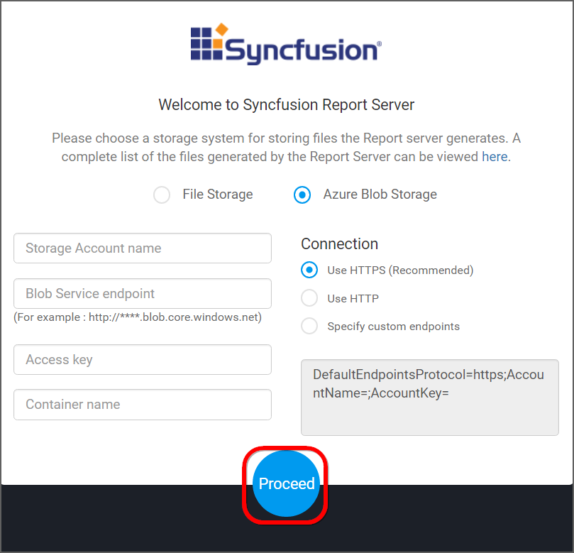 Setting up the Syncfusion Report Server in your machine