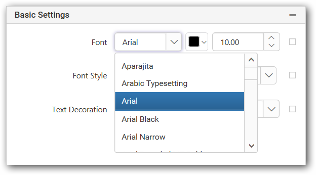 Textbox to design a report with Syncfusion Web ReportDesigner