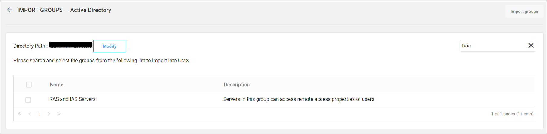 Synchronize Active Directory groups in the Syncfusion User