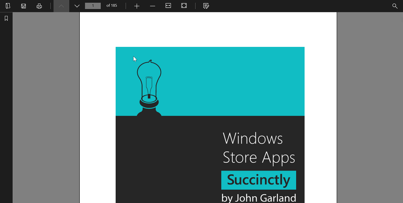 Desktop in UWP Pdf Viewer control | Syncfusion