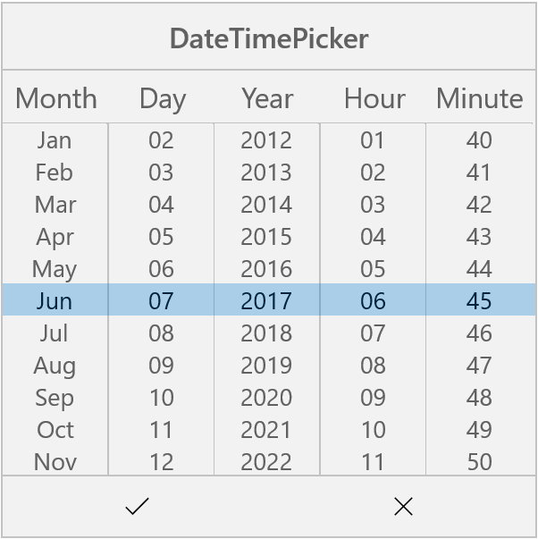 Date Time Picker In UWP Picker Control