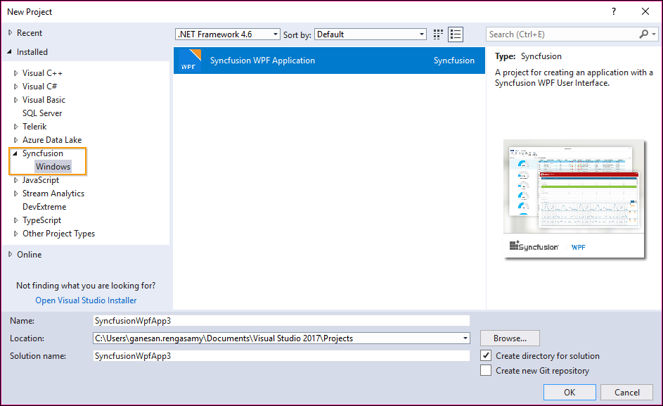 Steps to add Syncfusion Essential WPF controls