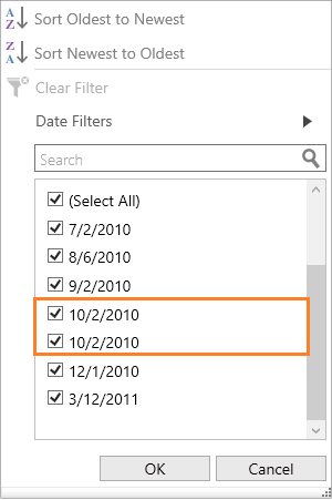 WPF DataGrid Filter | UI Filtering like Excel | Syncfusion