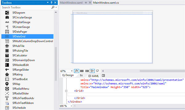Getting started with DataGrid for WPF   DataGrid Example   Syncfusion