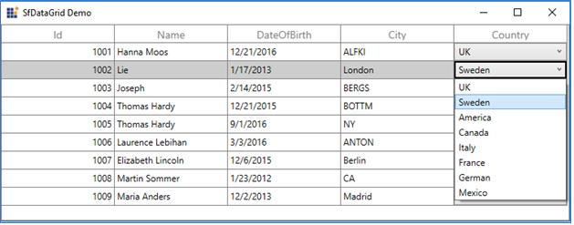 WPF DataGrid MVVM | Data Binding | Syncfusion