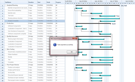Import and Export Support| Gantt | Wpf | Syncfusion
