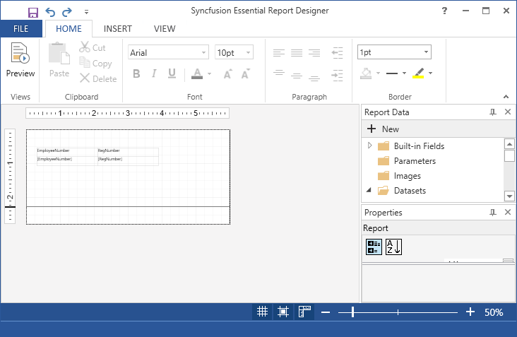 Create RDLC Reports through Wizard | ReportDesigner | wpf | Syncfusion