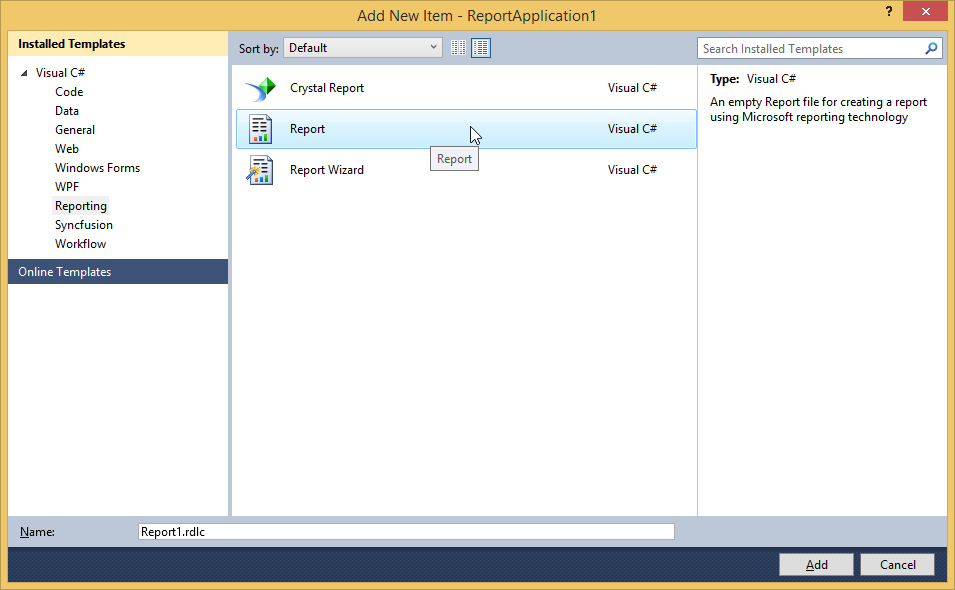 Create RDLC Report In VS2010 and Show It in Report Viewer